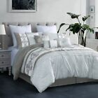 7 Piece Payton Gray/White Comforter Set image