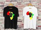 AFRICA POWER RASTA REGGAE MUSIC LOGO WHITE & BLACK T-SHIRT USA SIZE S-3XL FQ1
