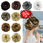100% Natural Curly Messy Bun Hair Piece Scrunchie Hair Extensions as Human