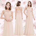 Ever-Pretty US Evening Blush Dresses Long Lace Formal Bridesmaid Ball Gown 09993 $46.39 USD on eBay