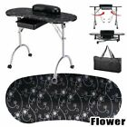 US Portable Manicure Nail Table Station Desk Spa Beauty Salon Equipment w Bag