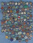 VARIOUS VINTAGE STERLING SILVER AND ENAMEL TRAVEL CHARMS