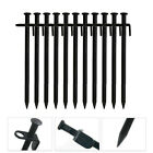 1 Pcs Heavy Duty Black Steel Metal Tent Canopy Camping Stakes Pegs Ground Nail