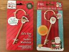 1 x Santa OR Elf Magic Key Father Christmas Elves Xmas Eve Metal with Keyring