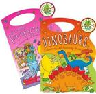 100% Recycled Princess OR Dinosaurs Carry Colouring Activity Book 48 Pages