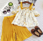 Boutique Kids Baby Girls Strap Floral Tops Loose Pants Outfits Set Clothes 1 6T