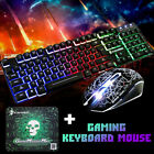 Rainbow Backlight Usb wired Gaming Keyboard and Mouse Set for PC Laptop Gaming
