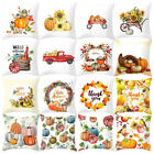 Fall Halloween Pumpkin Pillow Case Waist Throw Cushion Cover Sofa Home Decor US image