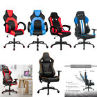 Video Gaming Chair High Back Recliner w/ Racing Bucket  Pu Leather Seat Footrest