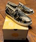 NEW Womens Yellow Box® Olsen Camo Camouflage Canvas Slip On Loafers Shoes 44190