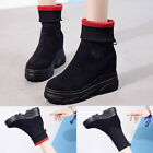 Fashion Women Ladies Snow Ankle Boots Winter Warm Elastic Stocking Casual Shoes