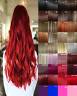 Clip in Hair Extensions Human Feel Ginger Brown Blonde Red Highlight Hot Pink