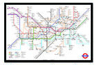 Transport For London Underground Tube Map Framed Cork Pin Notice Board With Pins
