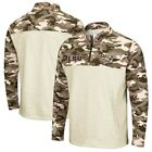 LSU Tigers Colosseum OHT Military Appreciation Desert Camo Quarter-Zip Pullover