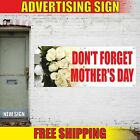 DON'T FORGET MOTHER'S DAY Advertising Banner Vinyl Mesh Decal Sign happy sale
