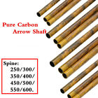12pcs 30* Aechery Pure Carbon Arrows Shaft SP 200-600 ID 6.2mm Hunting shooting