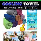Instant Cooling Towel ICE Cold Golf Cycling Jogging Gym Sports Outdoor TOWEL Cu