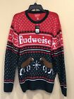Budweiser Ugly Christmas Sweater Mens Beer Bud New With Tags Xmas Holiday