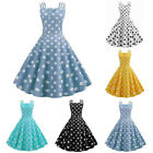 Women 1950s 60s Vintage Rockabilly Swing Dresses Retro Polka Dot Cocktail Party $14.71 USD on eBay