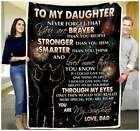 To My Daughter Dad - You Are My Sunshine Sofa Fleece Blanket 50-80