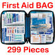 299 Pcs First Aid Energency Kit Camping Sport Travel Car Home Medical Bag US photo