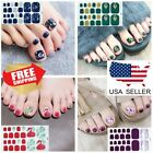 Fashion Summer Toe Nail Stickers Wraps Nail Art Decoration Black Self-stick New $1.99 USD on eBay