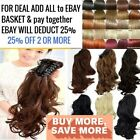 Long Claw Ponytail Hair Piece Extension Straight Wavy Curly Blonde Plum Burgundy