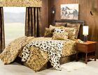 3-10 PC Western Haystack Camo & Faux Leather Comforter Bedding Set Cowboy Camo