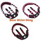 Compound Bow Wrist Sling Nylon Strap Braid 3 Color with Black Leather Shooting