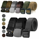 Men's Tactical Military Outdoor Combat Nylon Canvas Belt Buckle Strap Waistband