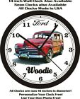 1947 FORD WOODIE WALL CLOCK-FREE USA SHIP