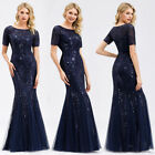 Ever-Pretty US Plus Size Sequins Mermaid Maxi Prom Dresses Formal Evening Gowns
