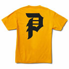Primitive Men's Dirty P Classic Short Sleeve T Shirt Yellow Gold Clothing Appare