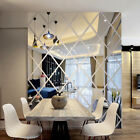 Diy 3d Stickers Mirror Wall Sticker Reflection Home Living Room Wall Decor Af