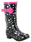 Childrens Kids Waterproof Wellington Wellies Girls Snow Welly Rain Boots UK 10-2