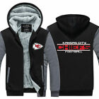 New Men's Hoodie Kansas City Chiefs Hooded Thicken Warm Sweatshirt Fleece Jacket $37.04 USD on eBay