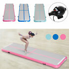 Air Track Gymnastic Tumbling Inflatable Mat Water Pool Floor Exercise w/ Pump