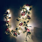 Red Berry Garland String Fairy Lights LED Battery Party Wedding Christmas Xmas