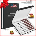 Steak Knife Set Dining Knives Sharp Blade German Stainless Stel 8-Piece Pack USA