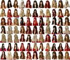 Burgundy Golden Blonde Brown Ginger Long Curly Straight Wavy Womens Fashion Wigs