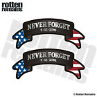 Never Forget Ribbon Decal SET NYC 9 11 343 WTC American Flag Sticker EVM