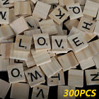 300x Wooden Scrabble Tiles Colorful Letters Numbers For Crafts Wood Alphabet Toy