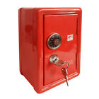 Safe Money Box Bank Metal 2 Keys With Combination Lock Coins Cash Security Box