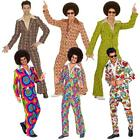 Costume Carnevale Uomo Disco Fever Anni 70 Groovy Style PS 35339