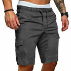 Fashion Mens Casual Shorts Gym Sport Running Workout Cargo Pants Jogger Trouser