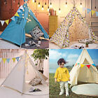 Indian Cotton Canvas Kids Teepee Tent Childrens Wigwam Indoor PlayHouse Sleep