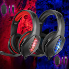 For PS5 Xbox Nintendo Switch PC 3.5mm Stereo Headphones Mic LED Gaming Headset