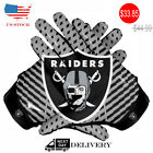 American Oakland Raiders Team NFL Football Gloves With Glue Grip Dotted Style $33.85 USD on eBay