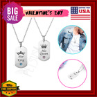 2020 valentines day couple necklace set romantic gift for him/her king his queen
