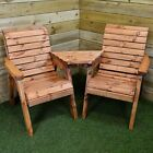 Charles Taylor Hand Made Chunky Wooden Garden Furniture Love Seats